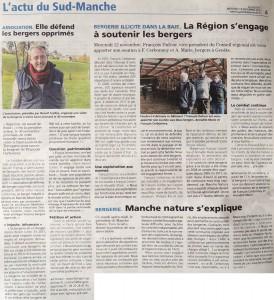 La Gazette : La Région s'engage à soutenir les bergers