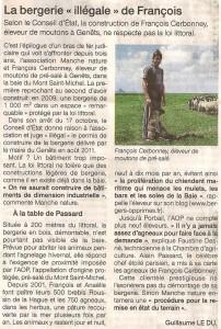 Article de Ouest-France du 1er novembre 2014