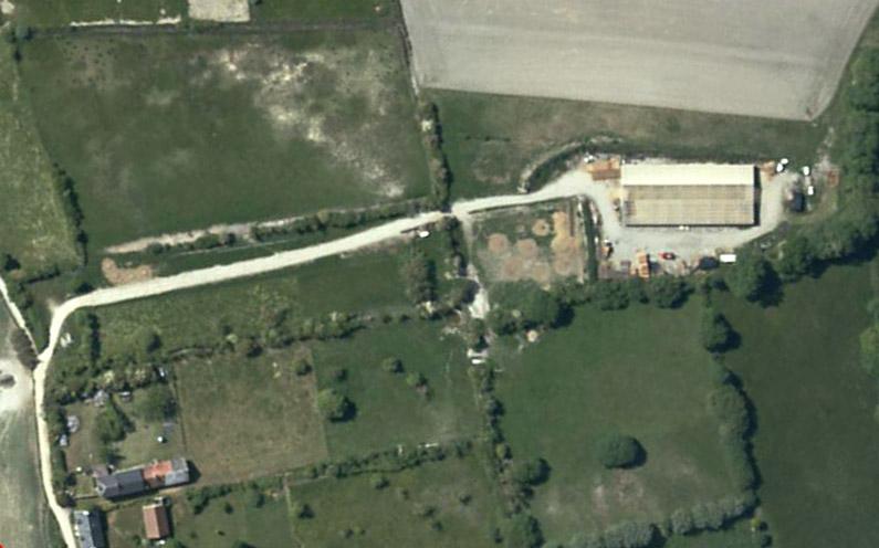 Vue satellite du site(Géoportail)