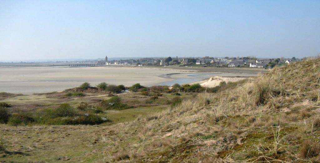 Le havre de Portbail vu des dunes de Lindbergh