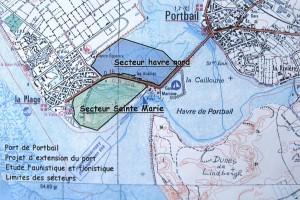 Situation du projet de port sur le secteur Sainte-Marie