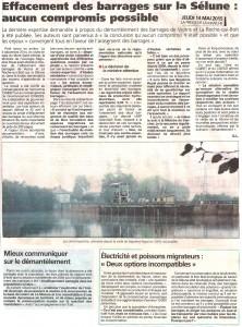 La Presse de la Manche du 14 mai 2015