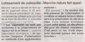 Article de Ouest-France du 19 mai 2015