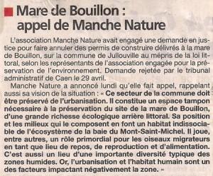 Article de La Presse de la Manche du 21 mai 2015