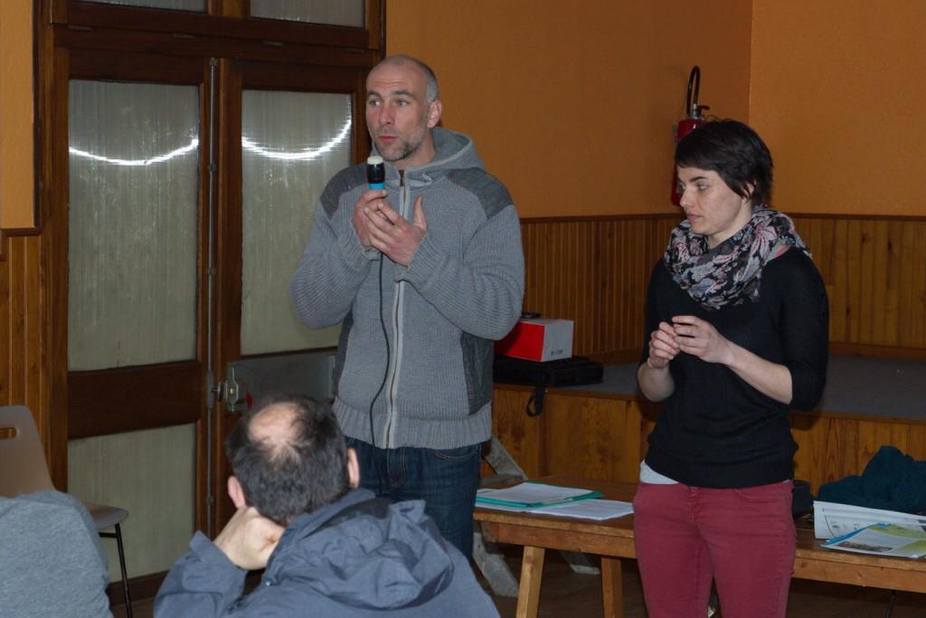 Pierric et Léa ont répondu avec compétence aux différentes questions de l'assemblée