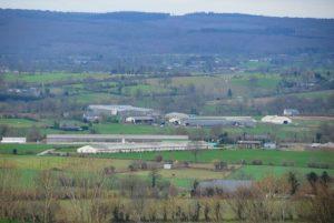 Vue du site de l'élevage de Montbray